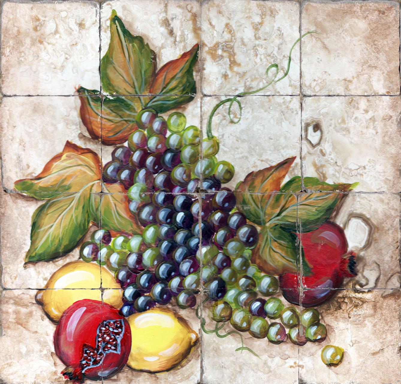 Kitchen Tiles Fruits Vegetables printed tile iv