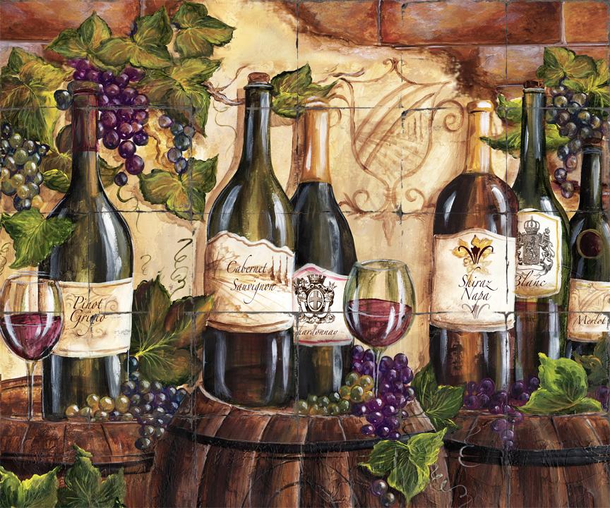Wine Themed Kitchen Paint Ideas: Tre Sorelle Printed Tile Murals