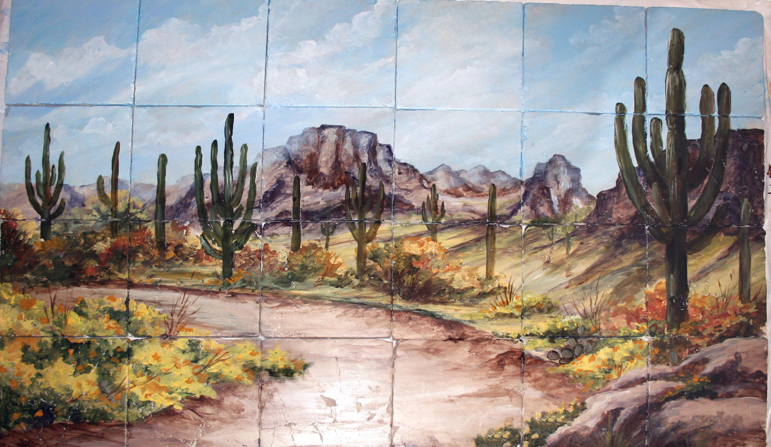 Custom Hand Painted Tile Murals