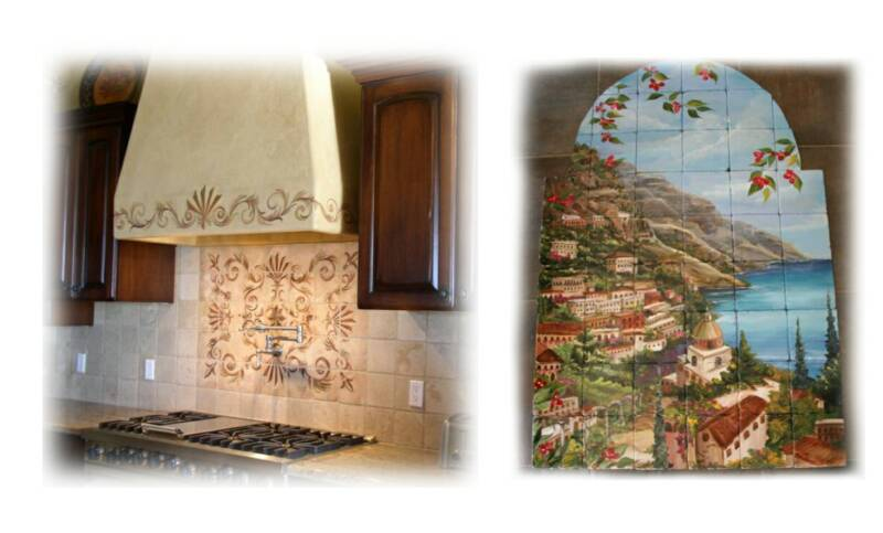 Tre Sorelle Hand Painted Tile Murals Former on